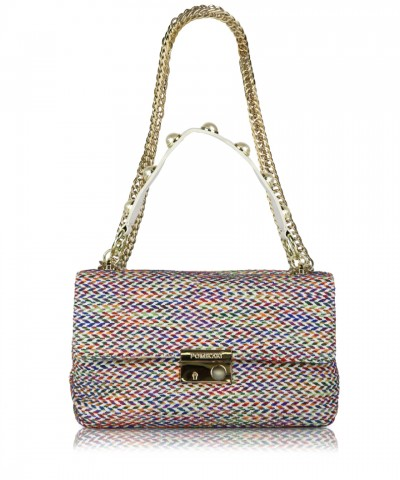 Multicolor-white Giulietta Tweed crossbody bag
