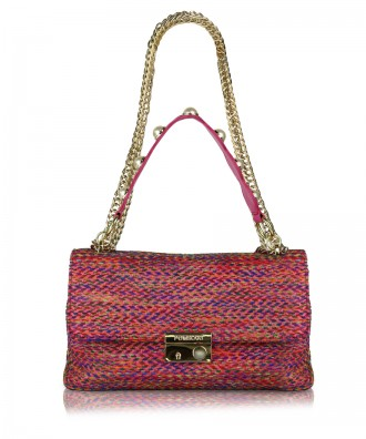 Multicolor-red Giulietta Tweed crossbody bag