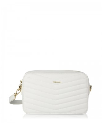 White Gioia crossbody bag