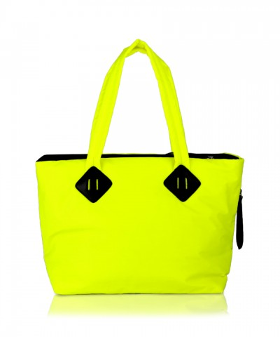 Fluo yellow Ri-flect Midi shopper