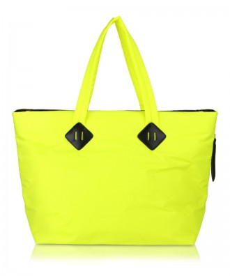 Fluo yellow Ri-flect shopper