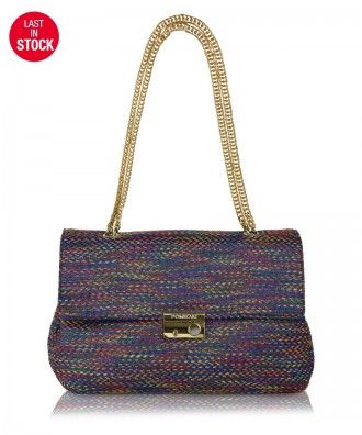 Borsa a tracolla multicolor-blu Anna Tweed