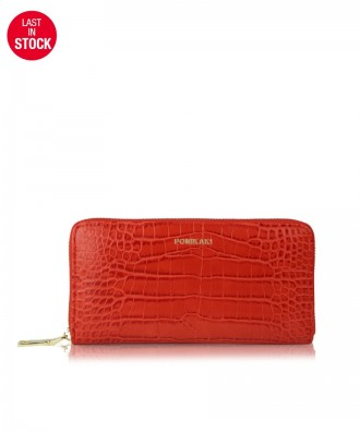 Wallet Louise red croco