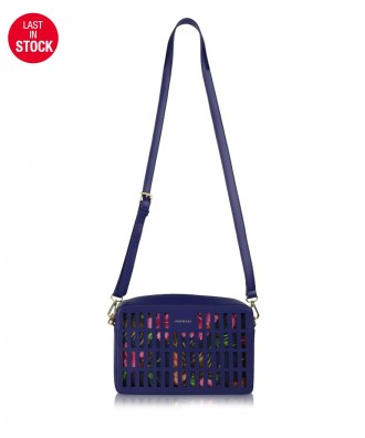 Navy blue Kirigami crossbody bag