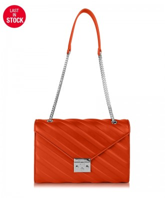 Coral red Diva crossbody bag