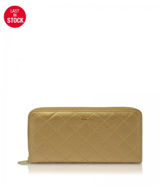Pomikaki Louise Quilted wallet gold