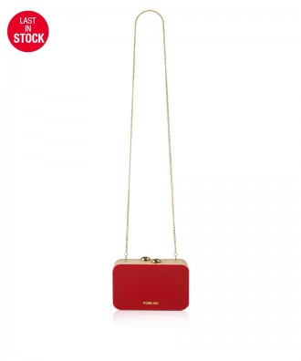 Pomikaki Clara clutch red cherry