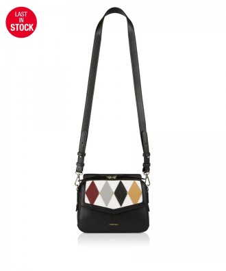 Pomikaki Minnie Harlequin handbag black