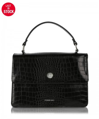 Black Gwen Croco handbag