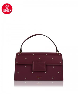 Pomikaki Lolly Pop handbag burgundy