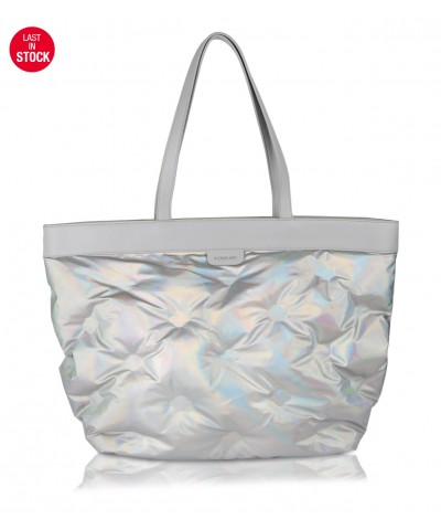 Holographic Puffy shopper bag