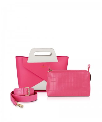 Set Origami Small White & Fuxia